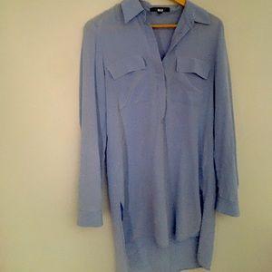 Judith and Charles blue silk tunic or shirt dress